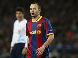 Iniesta worried by Barca defence