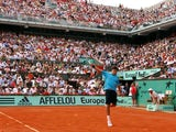 Roger Federer at the French Open