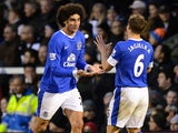 Marouane Fellaini and Phil Jagielka