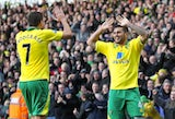 Bradley Johnson celebrates with Robert Snodgrass