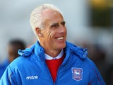 Mick McCarthy smiles before ipswich take on Birmingham