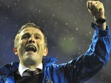 Bradford City manager Phil Parkinson celebrates their win
