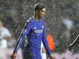 Fernando Torres in the rain