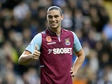 Andy Carroll gives a thumbs-up to Newcastle fans
