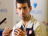 Novak Djokovic in a press conference ahead of the ATP Finals
