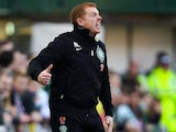 Celtic boss Neil Lennon shouts from the touchline