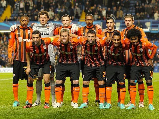 Shakhtar Donetsk team facing Chelsea