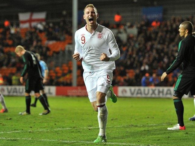 Connor Wickham scores for England U21s