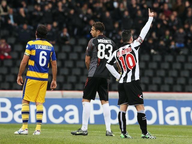 Antonio Di Natale scores for Udinese against Parma on November 18, 2012