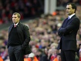 Brendan Rodgers and Roberto Martinez on November 17, 2012
