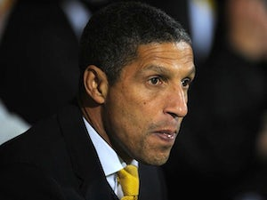 Norwich manager Chris Hughton on November 17, 2012