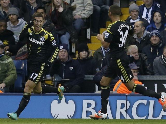 Eden Hazard scores Chelsea's goal on November 17, 2012
