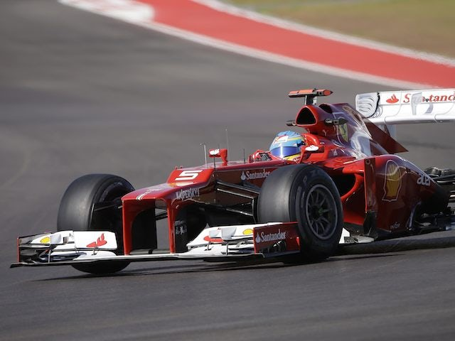 Fernando Alonso during the US Grand Prix practice on November 16, 2012