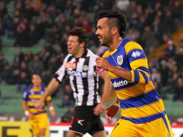 Raffaele Palladino scores for Parma on November 18, 2012