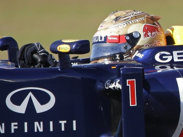 Sebastian Vettel during the practice for the US Grand Prix on November 16, 2012
