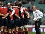 England coach Stuart Lancaster before the match with Australia on November 17, 2012