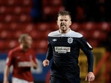 Huddersfield's Adam Clayton celebrates his late equaliser on November 24, 2012