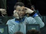 Inter forward Antonio Cassano watches his team against Parma on November 26, 2012