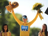 Bradley Wiggins wins the Tour De France on July 22, 2012