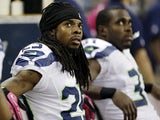 Richard Sherman of the Seattle Seahawks on October 28, 2012