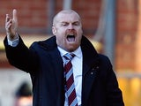 Burnley manager Sean Dyche on the touchline during the match against Blackburn Rovers on December 2, 2012