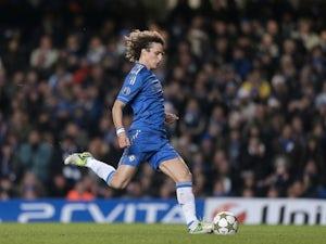 Chelsea's David Luiz takes a penalty on December 5, 2012