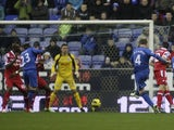 James McCarthy opens the scoring for Wigan on December 8, 2012