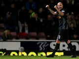 Jonjo Shelvey celebrates his winner for Liverpool at West Ham on December 9, 2012