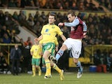 Villa's Brett Holman equalises in the cup against Norwich on December 11, 2012