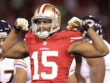 San Francisco 49ers' Michael Crabtree on November 19, 2012