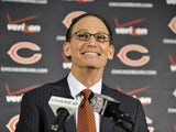 The Chicago Bears unveil their new head coach Marc Trestman at a press conference on January 17, 2013
