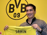 New Dortmund midfielder Nuri Sahin at a press conference on January 13, 2013