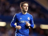 Chelsea player Marko Marin during his sides match against Wolverhampton Wanderers on September 25, 2012