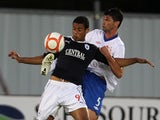 Falkirk's Lyle Taylor in action against Rangers on August 21, 2012