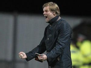 Falkirk boss Steven Pressley on the touchline during a game with Rangers on September 21, 2011