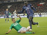 PSG player Mamadou Sakho (right) during a match on November 3, 2012