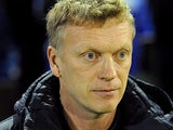 Everton boss David Moyes prior to kick-off against Oldham in the FA Cup 5th round on February 16, 2013