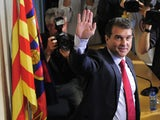 Barcelona's former president Joan Laporta attends a press conference on October 18, 2010