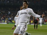 Real Madrid's Alvaro Morata scores against Rayo Vallecano on February 17, 2013