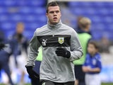Burnley's Kevin Long warms up prior to his side's match against Birmingham on December 22, 2012