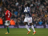 West Brom's Romelu Lukaku celebrates scoring against Swansea City on March 9, 2013