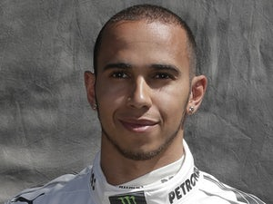 New Mercedes driver Lewis Hamilton on March 14, 2013