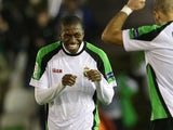 Racing Santander's Papakouli Diop during a match on January 21, 2010