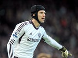 Chelsea goalkeeper Petr Cech in action on March 10, 2013