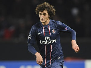 PSG's Adrien Rabiot during his side's match with Dinamo Zagreb on November 6, 2012