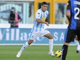 Pescara Colombian midfielder Juan Fernando Quintero in action during a Seria A match against Atalanta on October 28, 2012