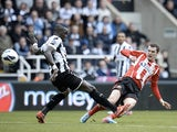 Sunderland's Adam Johnson scores the second goal against Newcastle on April 14, 2013