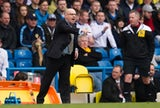 New Leeds United manager Brian McDermott on the touchline during the match against Sheffield Wednesday on April 13, 2013