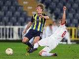 Fenerbahce's Dirk Kuyt in action on March 14, 2013