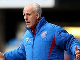Ipswich boss Mick McCarthy on the touchline during the match against Hull on April 13, 2013